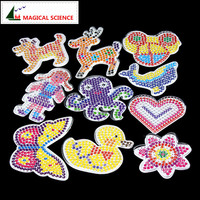 10pc Puzzle Pegboards Patterns With Colored Paper For 5mm Hama Perler Beads DIY Kids Craft Plastic