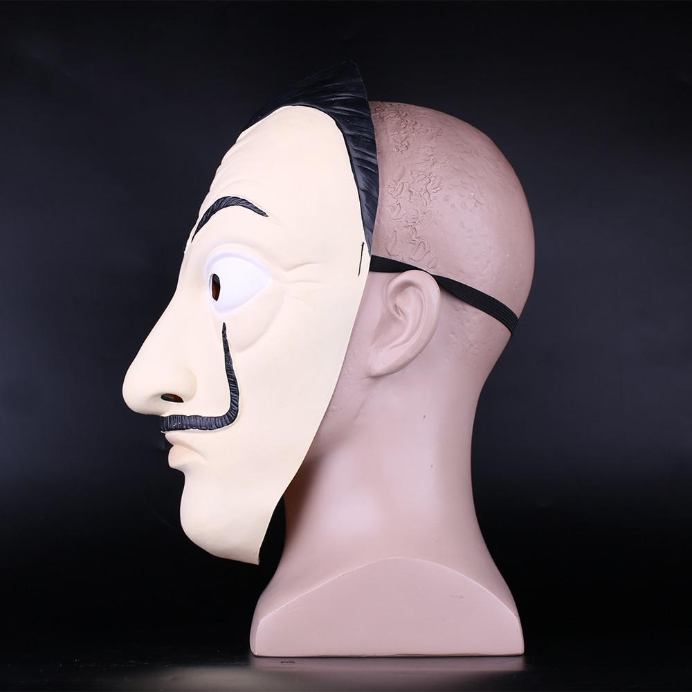 Money Heist The House of Paper La Casa De Papel Mask Latex Men Women Salvador Dali Mask Halloween Carnival Christmas dali Mask 2