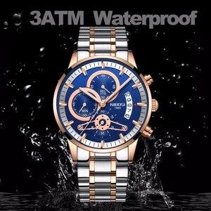 Image 3 - NIBOSI Men Watch Relogio Masculino Gold Black Mens Watches Top Brand Luxury Waterproof Automatic Date Quartz Watch Men Clock