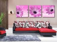 Большой 3 шт. современный дом стены Книги по искусству для гостиной Спальня Декор холст стены Книги по искусству Картина Фиолетовый Африкан...