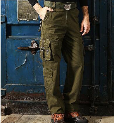 Мульти-карман личности модные хлопковые брюки мужские повседневные штаны Хомбре Брюки-Карго Облегающие штаны для мужчин мужские панталоны ...