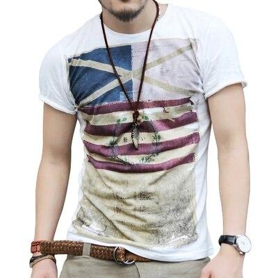2016 New Mens Summer Tops Tees Short Sleeve t shirt Man, Men's T-shirt men's brand fashion round neck T shirt men B97