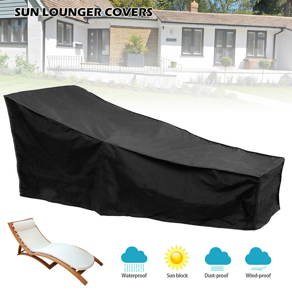 Sun Lounger Covers Waterproof Dustproof Oxford Fabric Sunbed Chair Cover Outdoor Garden Patio Furniture with Drawstring 200x68cmSun Lounger Covers Waterproof Dustproof Oxford Fabric Sunbed Chair Cover Outdoor Garden Patio Furniture with Drawstring 200x68cm