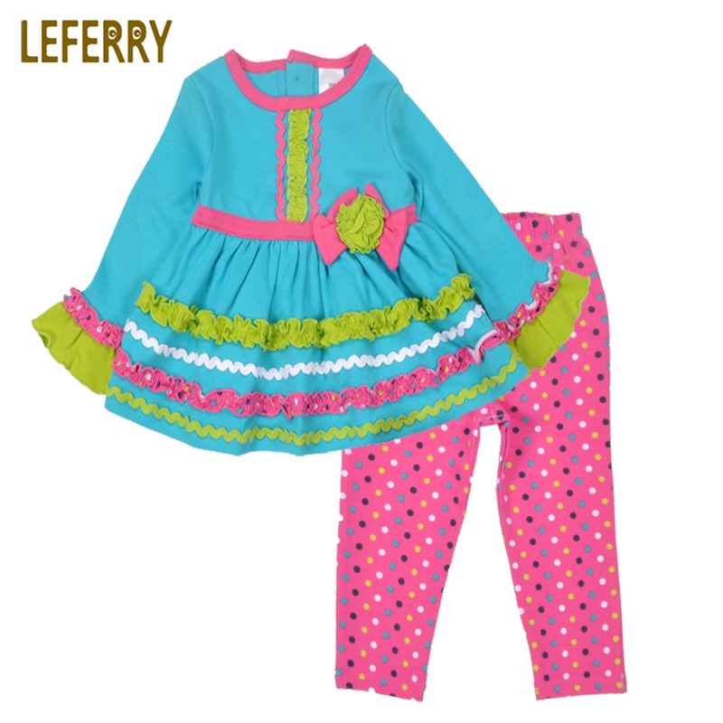 Baby Girls Dresses + Legging Dot Baby Girl Clothes Sets Newborn Infant Girls Clothing Co ...