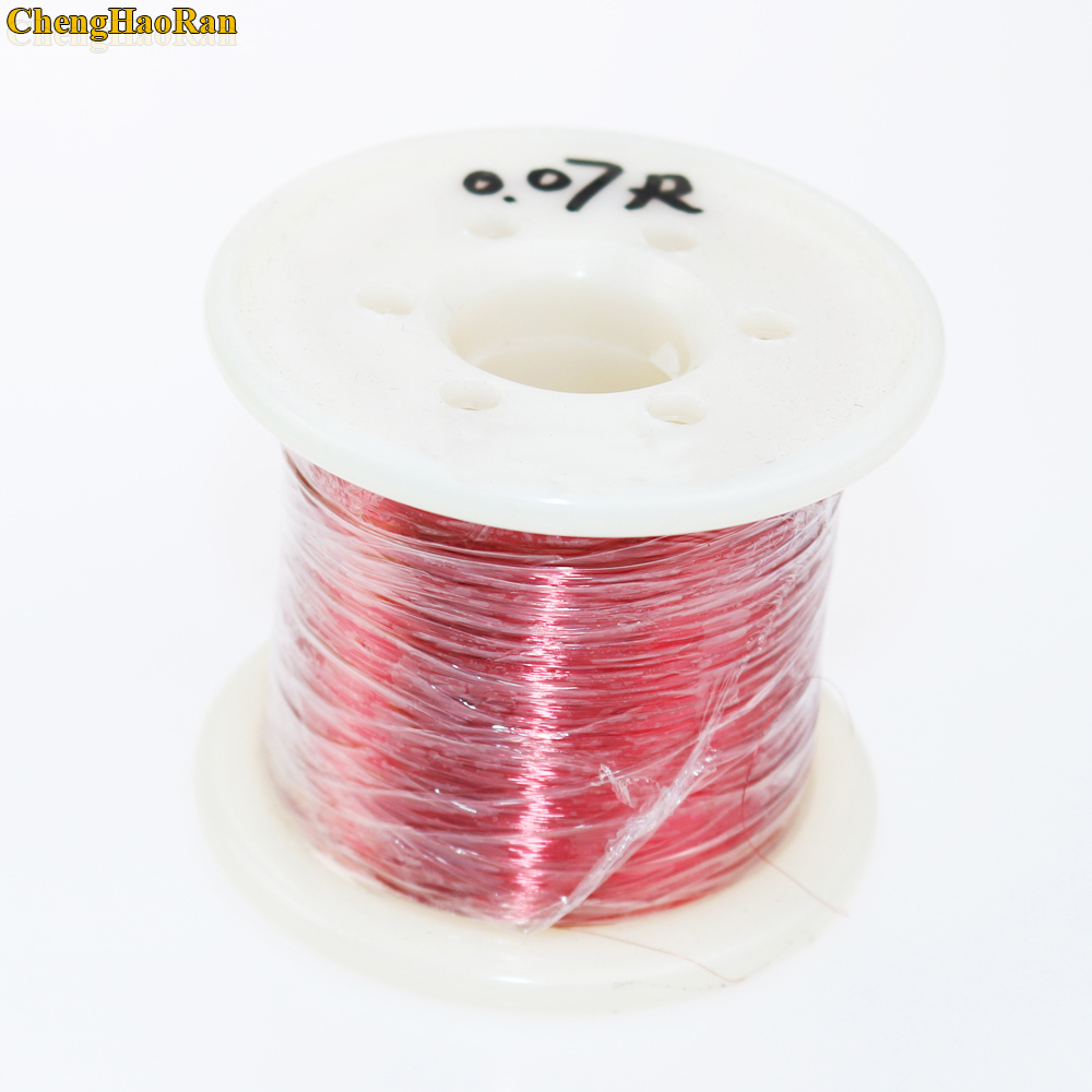 ChengHaoRan 0.07 mm Red 2000m/ pc, QA 1 155 New Polyurethane Enameled Wire Copper wire-in Computer Cables & Connectors from Computer & Office
