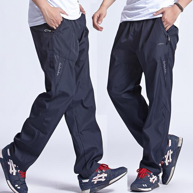 New Outdoor Men's Sports Pants Quickly Dry Jogging Pants Man Running Trousers & Sweatpants for men Plus Size 3XL sports jogging pants with zip