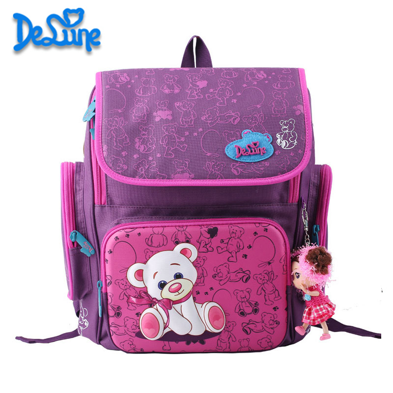New Cartoon Bear Backpack School Satchel Children School Bags Orthopedic Waterproof Backpacks Girls School Backpacks new waterproof oxford school bags for girls orthopedic children cartoon backpack cute birds school backpacks mochila escolar