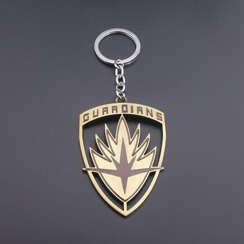 Film Jewelry Metal Keychain Guardians of the Galaxy Hollow Shield Keychains