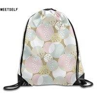 3D Print Colorful Circle Patterns Shoulders Bag Women Fabric Backpack Girls Beam Port Drawstring Travel Shoes