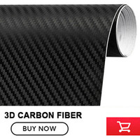 Black 3D Carbon Fiber Vinyl Car Wrap Sheet Roll Film Car Stickers And Decals Motorcycle Car
