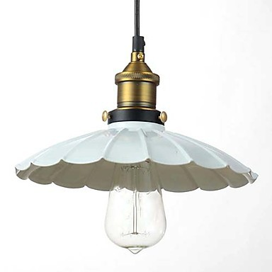 White Iron Edison Loft Vintage Industrial Lighting Fixtures Hanging Lamp Lustres De Sala Teto Pendant Light Fixtures