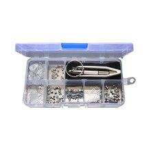 Набор для ремонта очков, маленькие винты, гайки, шайбы с носоупорами, отвертки, пинцет для солнцезащитных очков, часов, ювелирной фиксации