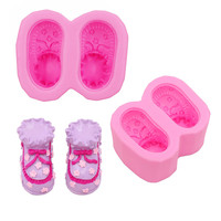 Gadgets Fondant Molds Baby Booties Shoes Silicone Mold Small Shoes Mold Soap Mold Silicone Molds Mold