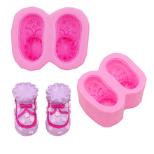 Gadgets Fondant Molds  Baby Booties Shoes Silicone Mold Small shoes mold soap silicone molds for m
