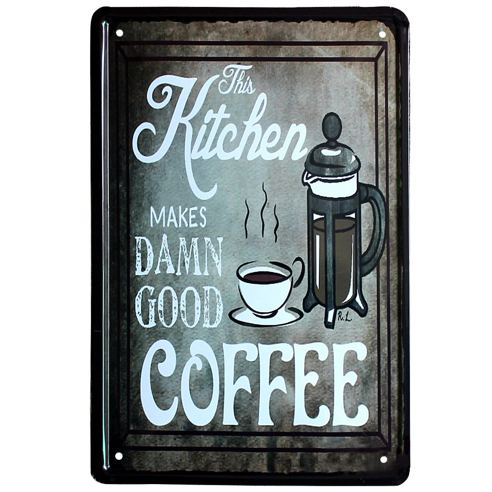 Tin Signs Coffee House Metal Signs Home Kitchen Wall Decor Vintage ...