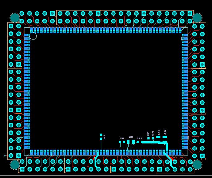M100 Android development board Android communications module minimum system with only 7 expansion board connection