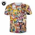 2017 Nueva Pokemon camisa de Las Mujeres/de Los Hombres de Dibujos Animados Totalmente 90 s impresión 3d T camisa de dibujos animados Pokemon 3d camisetas niñas camiseta más tamaño superior S-XXL