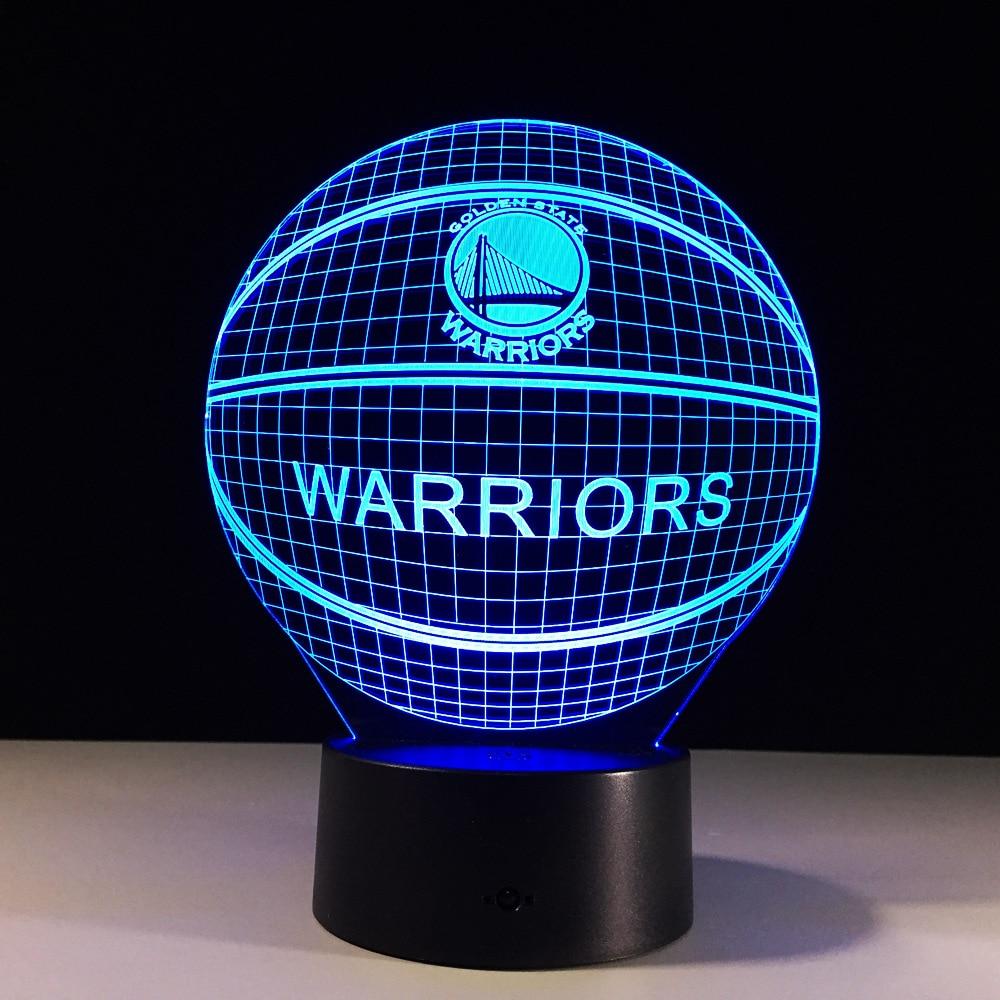 Led Lights Ender 3: NBA Touch 3D Table Lamp 7 Color Changing 3D Light Kobe