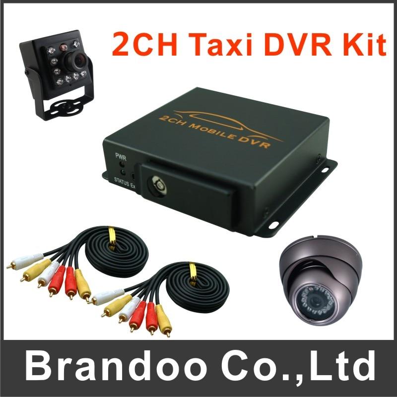 Free shipping,2 channel car dvr, taxi dvr, 2ch DVR VGA resolution