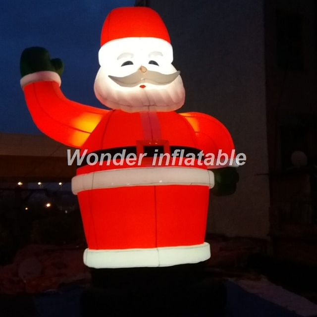 d3565888c2356 Most popular outdoor inflatable christmas decorations lighting led  inflatable santa claus characters for holidays