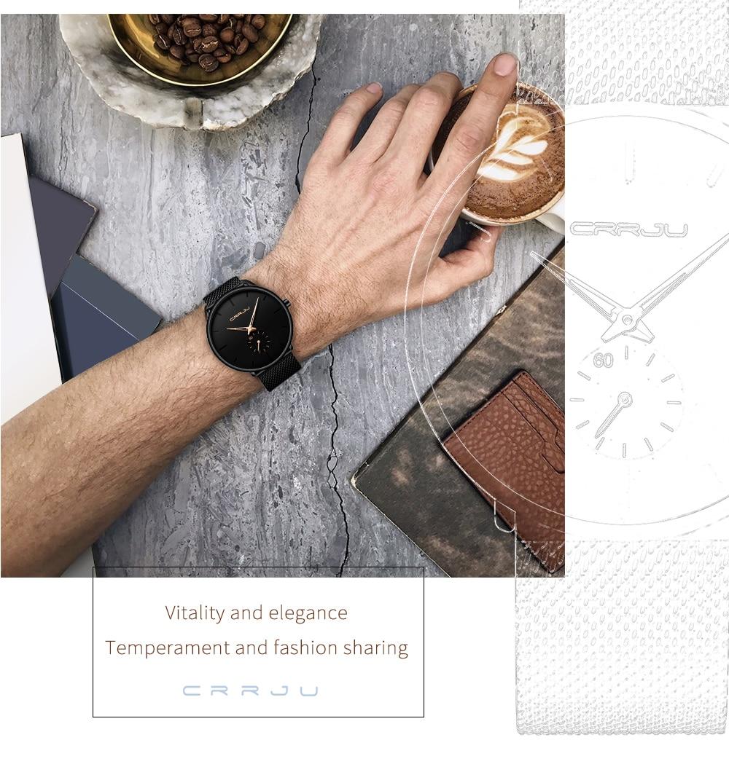 HTB1E3quR4jaK1RjSZFAq6zdLFXaP CRRJU Fashion Mens Watches Top Brand Luxury Quartz Watch Men Casual Slim Mesh Steel Waterproof Sport Watch Relogio Masculino