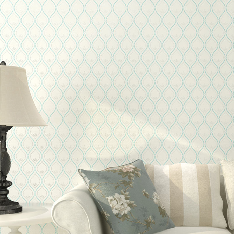 Modern Chinese Style Non Woven Grid Wallpapers Roll for Living Room Walls Beige Small Damask Floral Lattice Wall Paper for Walls modern wallpaper solid color non woven grey wall paper for living room walls concise nordic europe wallpapers roll wallcovering