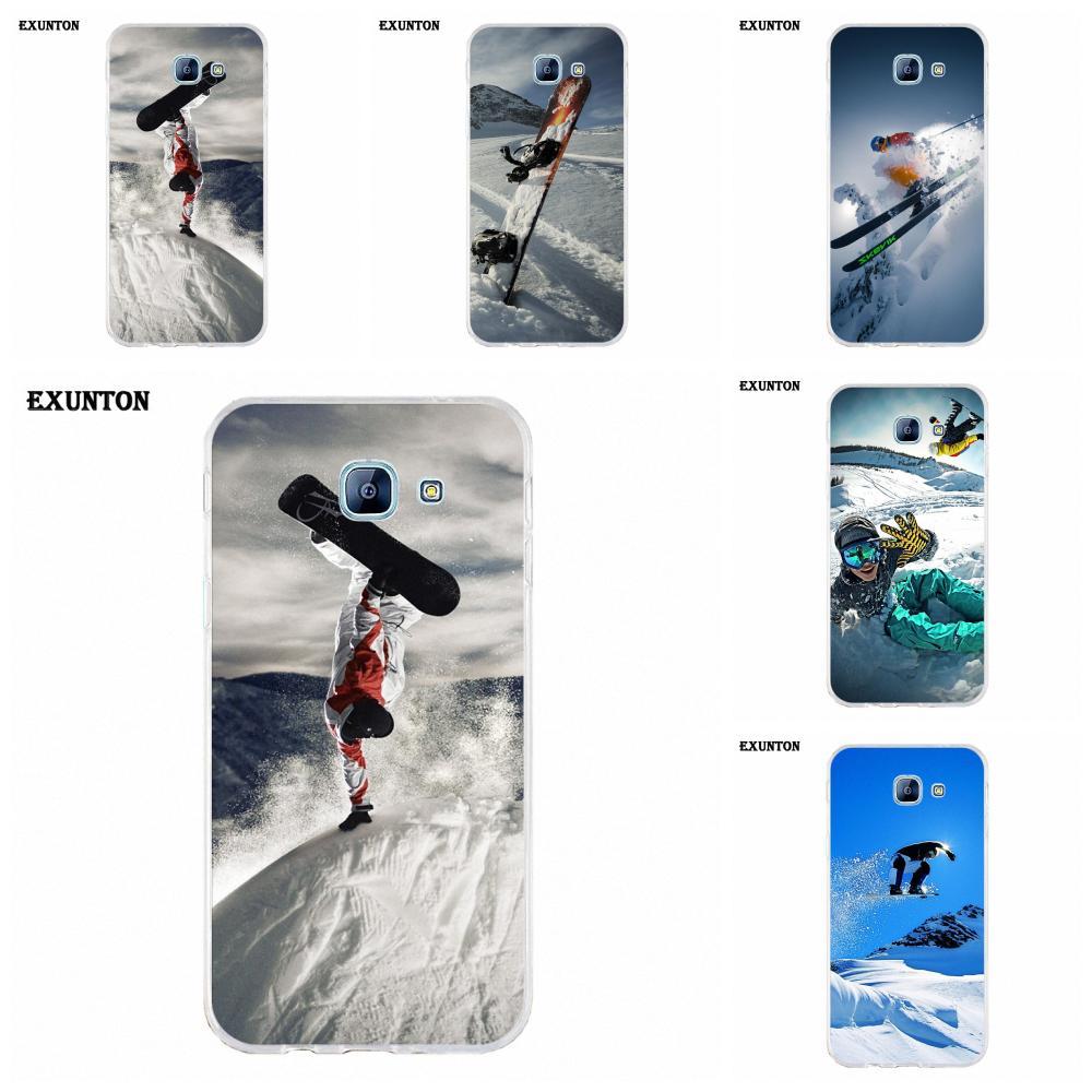 Snow Or Die Ski Snowboard For Galaxy Alpha Core Note 2 3 4 S2 A10 A20 A20E A30 A40 A50 A60 A70 M10 M20 M30 TPU Covers