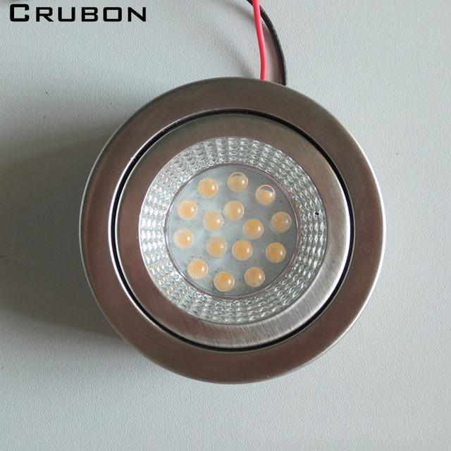 CRUBON LED cabinet lights: ultra-thin round 220V built-in drive furniture lights