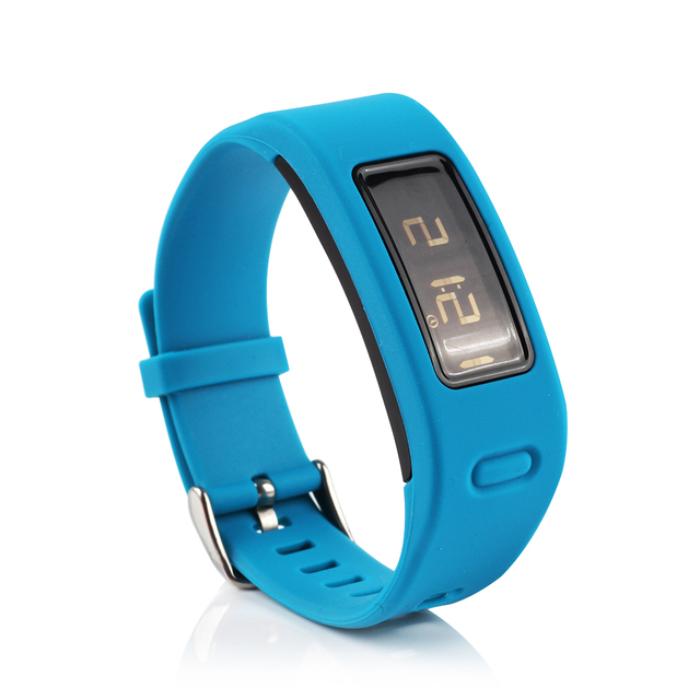 (JM1GJSS) New arrival candy colors Replacement Rubber Band with Clasps for Garmin Vivofit Bracelet Wristband No Tracker