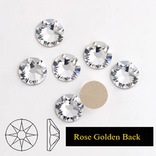 Zziell New 2088 Cut Crystal Clear Golden Base 16 facets 8+8 The Best Quality Non hotfix Nail Art Rhinestones for Luxury Decors