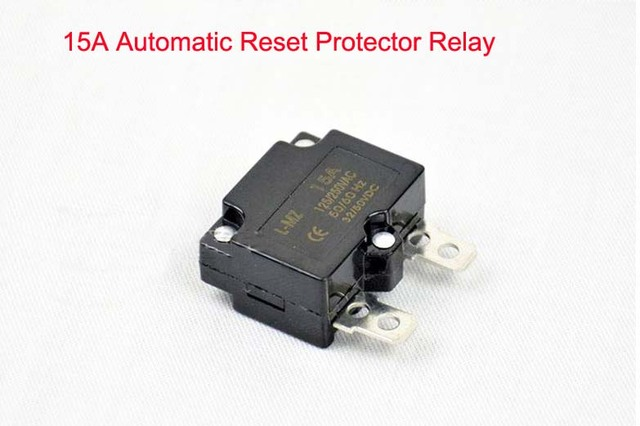 DIY 7A 10A 15A Automatic Reset Relay Fuse Therma Switch