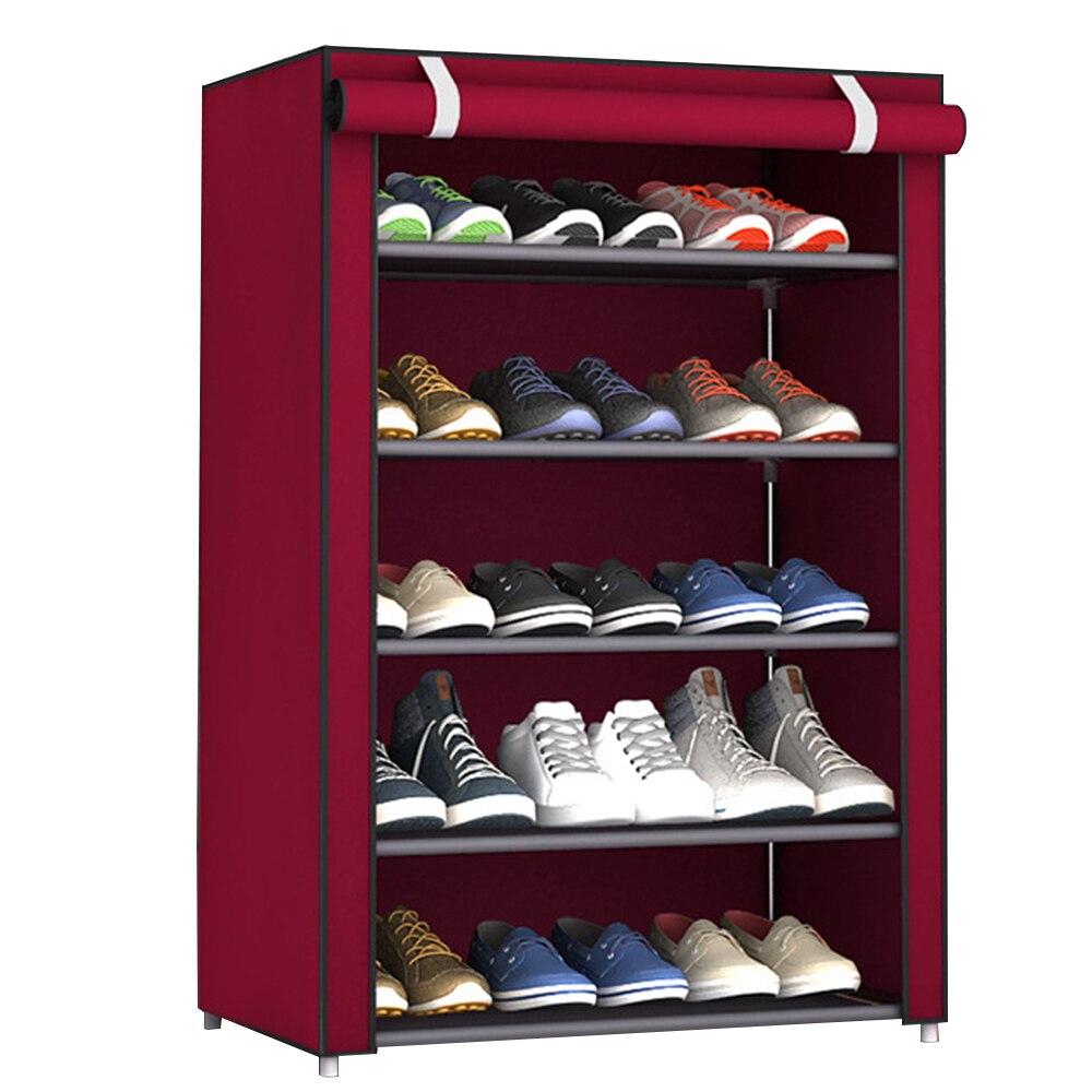 Многослойная стойка для хранения обуви бытовые принадлежности для экономии пространства практичные домашние мешки для хранения обуви вешалка для хранения шкафа - Цвет: six layers purplish