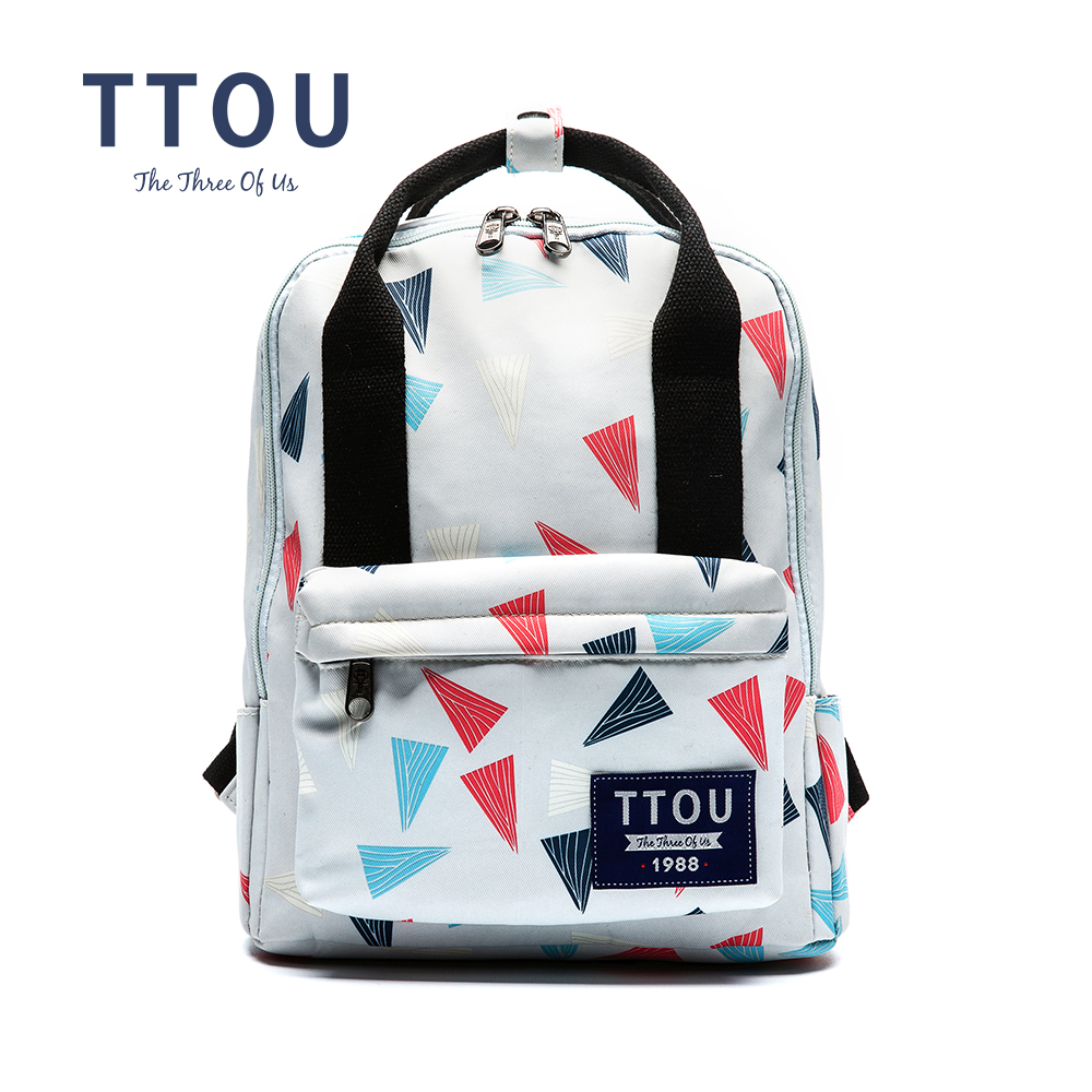 TTOU 2017 Fashion Girl Womes Canvas Geometric Backpack Travel Satchel Rucksack School Book Bag Female Leisure Rucksack