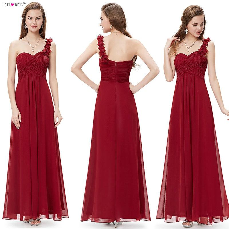 Bryllup brudepike kjoler Ever Pretty EP09768 Mote kvinner Flower One - Kjoler til bryllupsfesten - Bilde 4