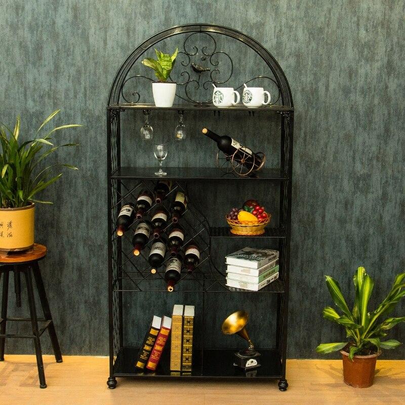 Kreative Europäische weinhalter rack hängen glas rahmen schrank ...