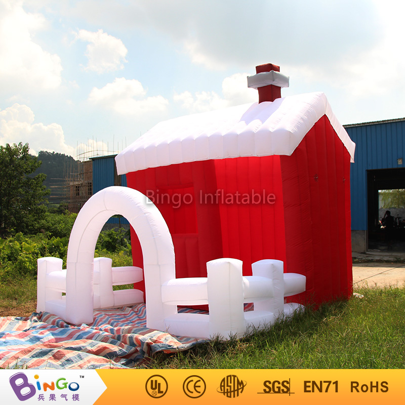 Blow up air toy tents type inflatable christmas village house with oxford cloth material tau 0826 dc 6v 12v24v keeping force 16n 20n pull