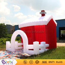 Blow up air toy tents type inflatable christmas village house with oxford cloth material