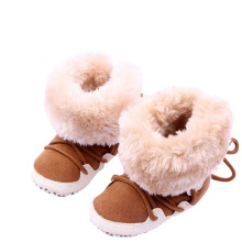 Newborn Cotton Soft Thick Baby Boy Girl Shoes Infant High-top Solid Boots Moccasins Warm Fleece Toddler First Walkers