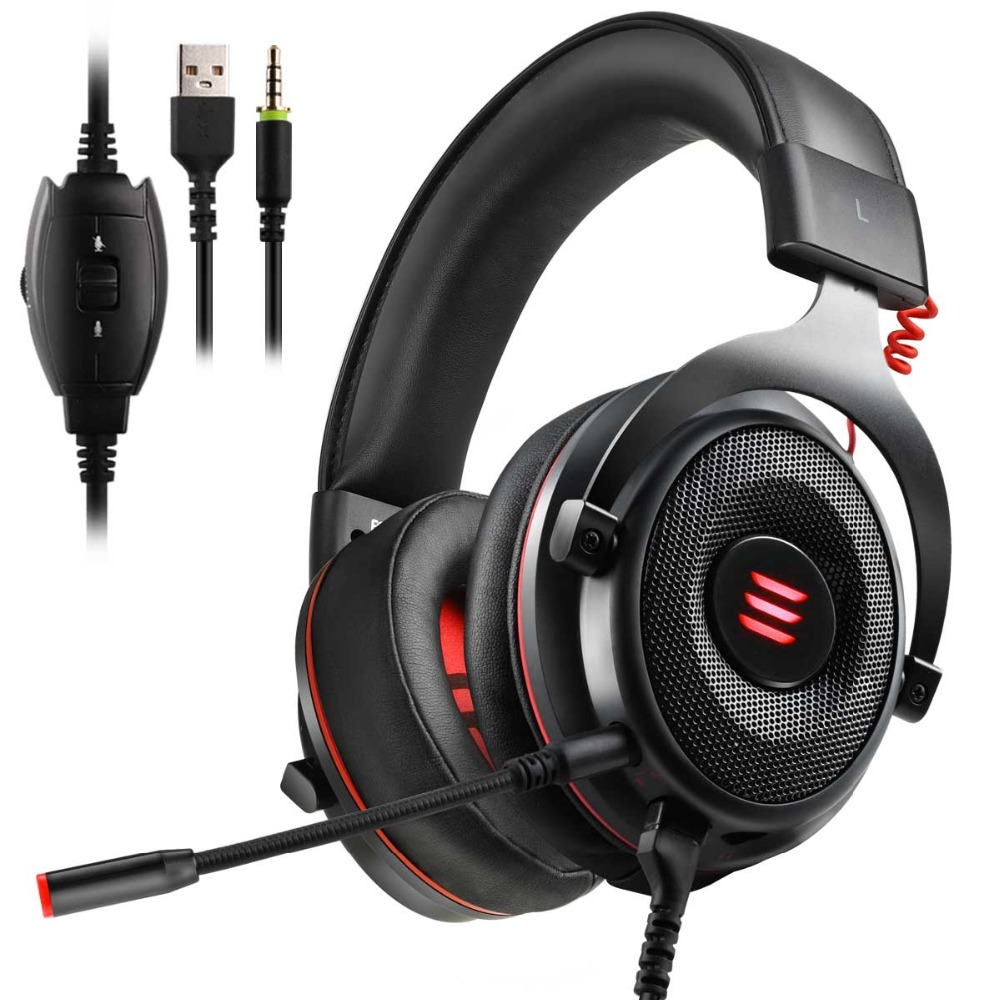 EKSA E900 2 In 1 USB Virtual 7.1/ 3.5mm Professional Gaming Headset With Mic Voice Control/LED Light Headphones For PC GamerEKSA E900 2 In 1 USB Virtual 7.1/ 3.5mm Professional Gaming Headset With Mic Voice Control/LED Light Headphones For PC Gamer