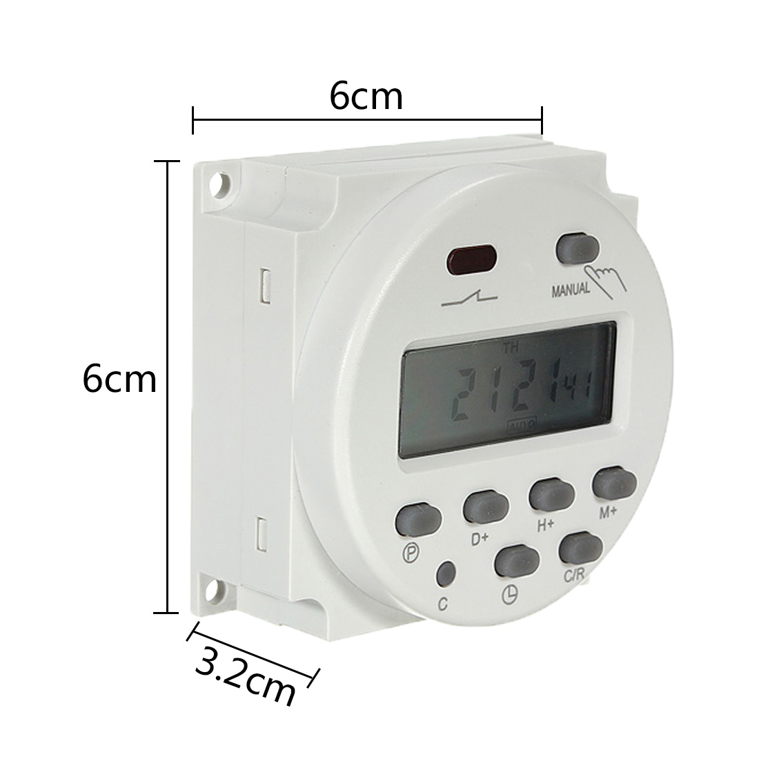 168 hours Digital Timer Switch Electronic Intelligent Programmable Timer Time Relay Switch Control for Light Boxes Radio 220V [zob] hagrid eh771 timer switch 1 channel cycle timer switch control switch import import
