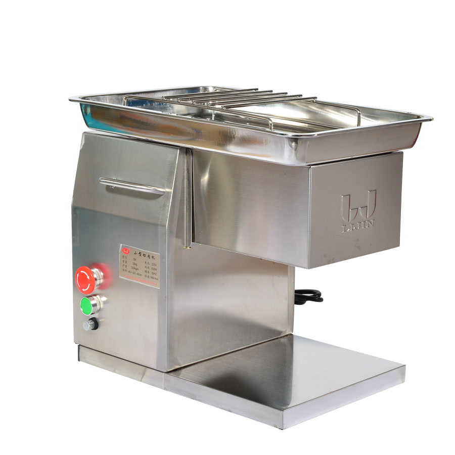 110V/220V Stainless Steel Meat Slicer/Cutter QX Desktop Type Meat Cutter Meat Cutting Machine 2.5-10mm Blade Size Can Be Choose