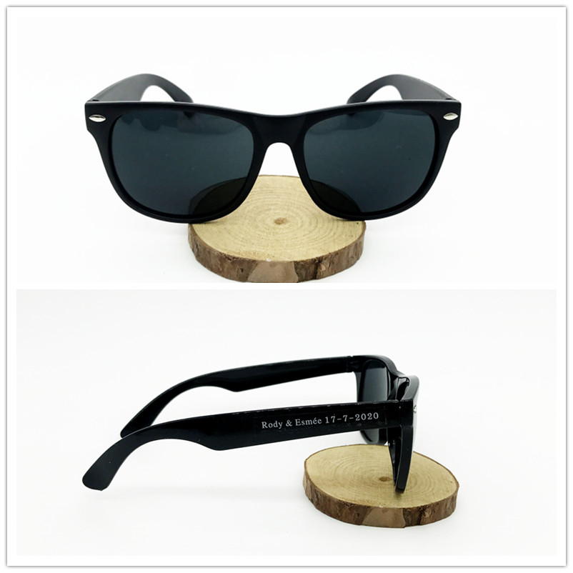 Black Sunglasses with Personalized Sticker Lable Wedding Souvenirs for guests Beach Party Sunglasses Custom Gift Birthday Favors