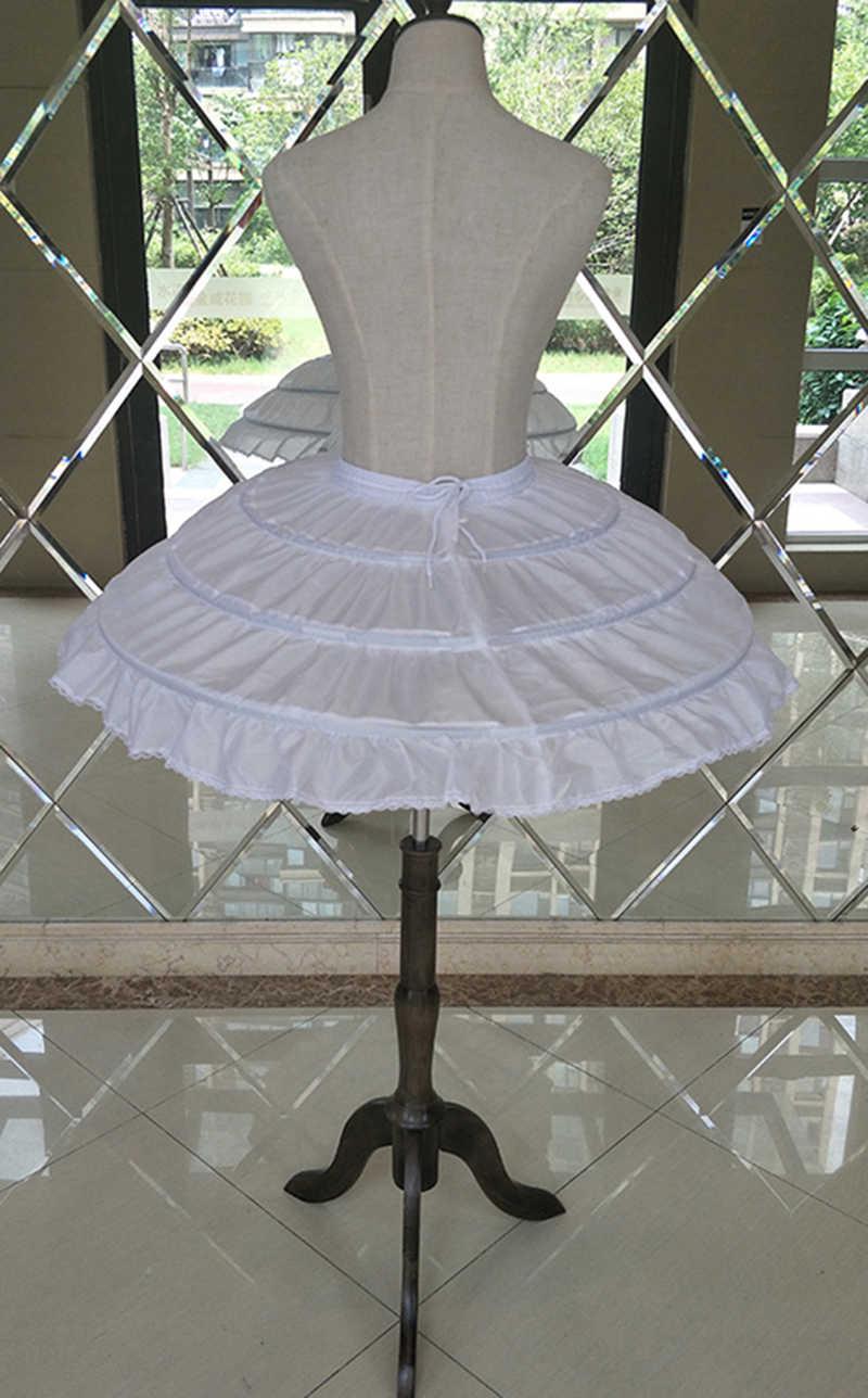 White 40 cm Short Mini Petticoat Underskirt for Ballet Dress Elastic Band Tie Rope 3 Three Hoops Crinoline For Cocktail Skirt
