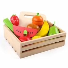 Learning Education Giocattoli di Legno di Frutta Taglio Musica Boxed Montessori Educativi Giocattoli di Legno di Trasporto di Goccia