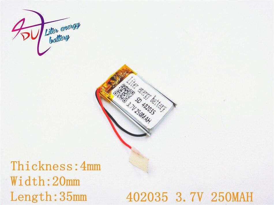 Lautsprecher Power Bank 250 Mah, 402035 sd Mp3 Gps Mp4 3,7 V Polymer Lithium-ion/li-ion Batterie Für Spielzeug DemüTigen 2 Stücke Handy