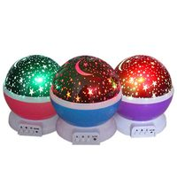 Novelty Luminous Toys LED Light Romantic Starry Sky Projector Battery USB Night Light Creative Birthday Kids Toys For Children