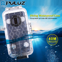 PULUZ 40m Waterproof Diving Housing For Galaxy S9+/ S9 Huawei P20 Only Support Android 8.0.0 or below Underwater Cover Case