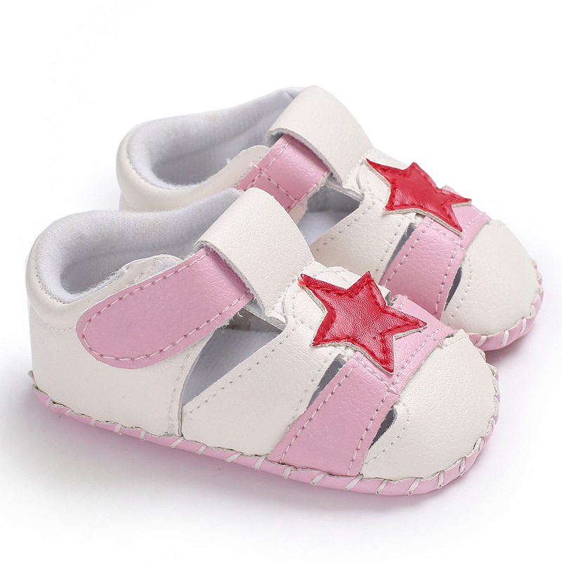 Stars Anti-Slip Shoes Newborn Baby Boys Girls Crib Shoes PU Leather Soft Sole Prewalker  ...