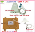 GSM 900Mhz Booster+DCS 1800Mhz Repeater dual band gsm 4g mobiel phone signal booster kits w / cable & antennas , 4G repetidor