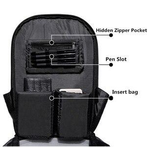Image 4 - OZUKO Backpack Men Hard Shell Backpack Waterproof Anti Theft Travel Bags Black Creative Alien Casual Laptop Teenage School Boy